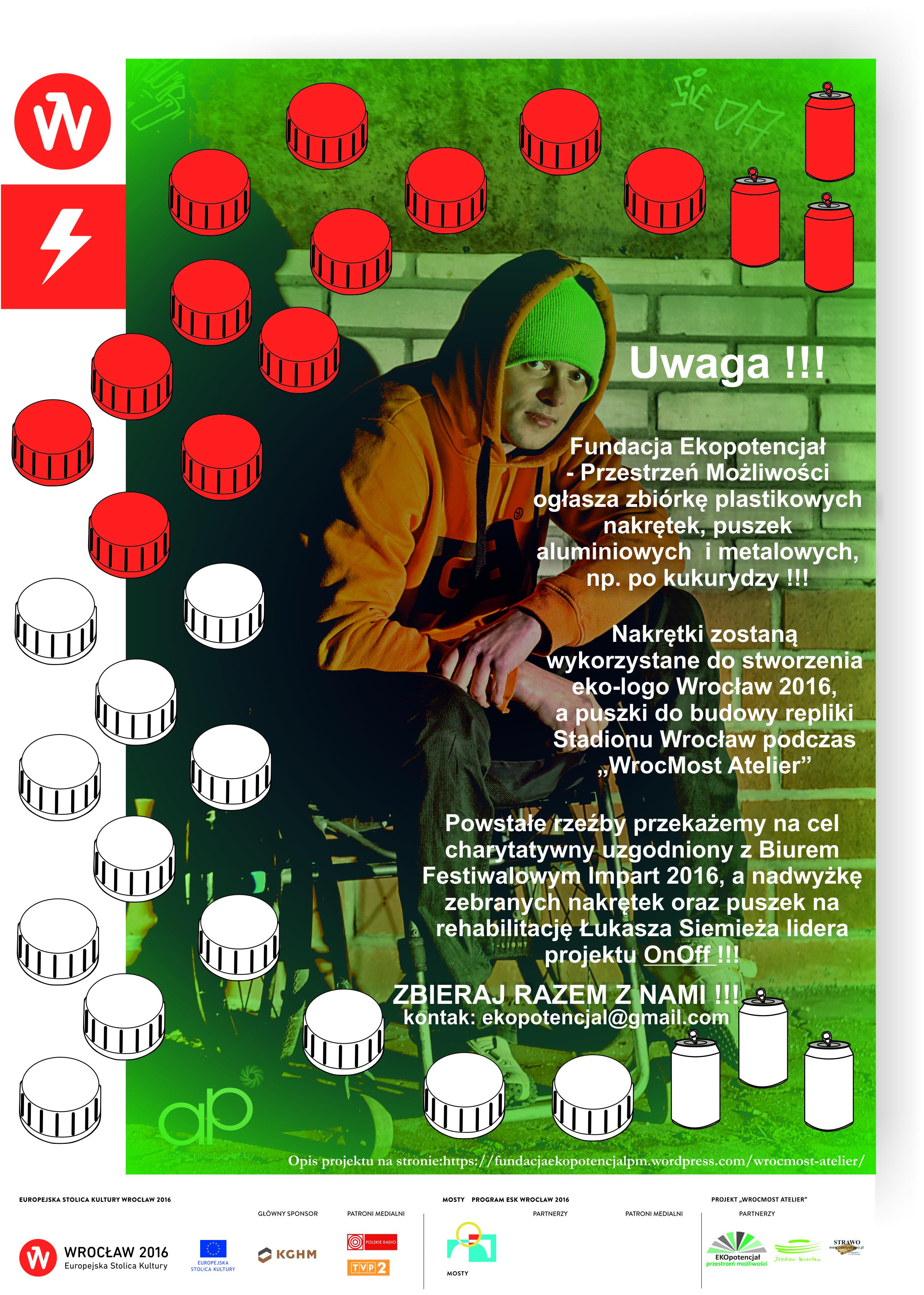 plakat zbieranie nakrętek poprawiony