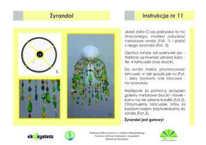Ekologia łączy pokolenia - instrukcja nr 11 - jak zrobić żyrandol